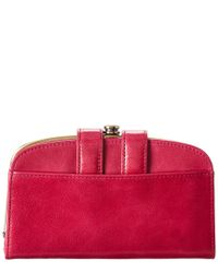 Hobo Red Halo Leather Wallet