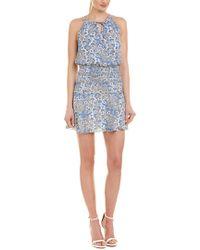 Parker Blue Lisa Silk Mini Dress