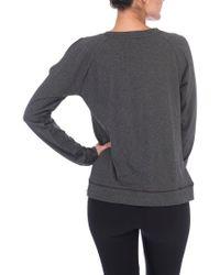 Bobeau - Gray Cold-shoulder Top - Lyst