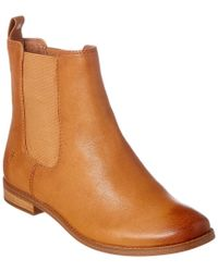 Frye Brown Anna Leather Chelsea Boot