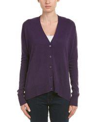 Autumn Cashmere Purple Cashmere Cardigan