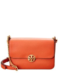 Tory Burch Orange Chelsea Leather Crossbody