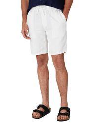 Onia White Noah Linen Short for men