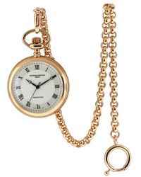 Frederique Constant Metallic Unisex Stainless Steel Pocket Watch for men