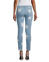 Stella McCartney Blue Faded Printed Pant