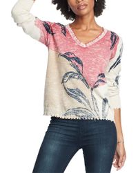 NIC+ZOE Pink Easy Day Sweater