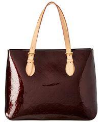 90098c1131ad Louis Vuitton. Women s Purple Monogram Vernis Leather Brentwood