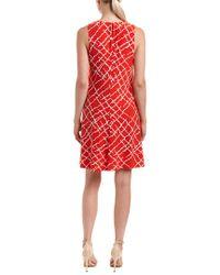 Anne Klein - Red Shift Dress - Lyst