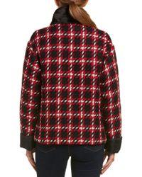 Moncler Red Giuturna Wool Overcoat