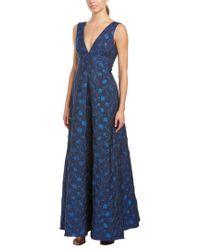 ML Monique Lhuillier Blue Gown