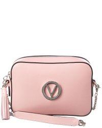 Valentino By Mario Valentino Pink Babette Mini Leather Crossbody