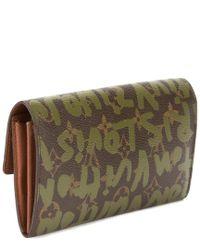 Louis Vuitton - Limited Edition Stephen Sprouse Green Graffiti Monogram Canvas Sarah Wallet - Lyst