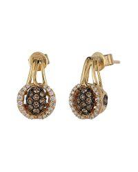 Le Vian Metallic ? Chocolatier? 14k Honey Gold? 0.50 Ct. Tw. Diamond Earrings