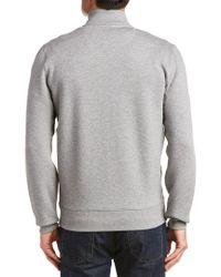 Burberry Gray Mock Zip Sweater for men