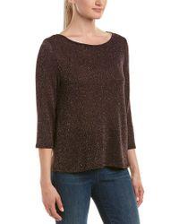 Three Dots - Purple Shimmer Sweater - Lyst