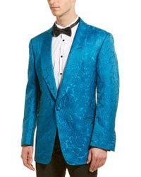 Tom Ford Blue Floral Silk-blend Sport Coat for men