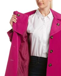 London Fog - Purple Trench Coat - Lyst