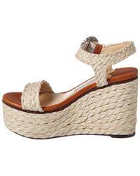 Jimmy Choo Multicolor Nylah 100 Raffia Wedge Sandal