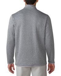 Adidas Originals Gray Club Performance 1/4-zip Pullover for men
