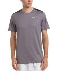 Nike Gray Breathe Run Top for men