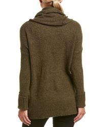 French Connection Green Flossy Long Sleeve Loose Fit Solid Pullover Sweater