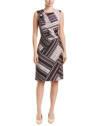 NIC+ZOE Purple Plus Graphic Brushstroke Dress