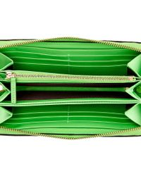 Gucci Multicolor Beige Gg Supreme Coated Canvas Zip Around Wallet