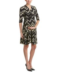 Everly Grey - Black Maternity Mila Wrap Dress - Lyst