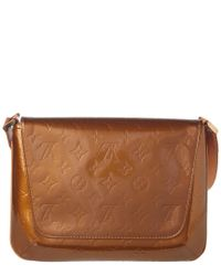 Louis Vuitton Brown Bronze Monogram Vernis Leather Thompson Street
