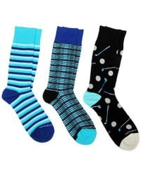 Unsimply Stitched Blue 3-pack Socks for men