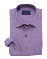 David Donahue Purple Dress Shirt for men