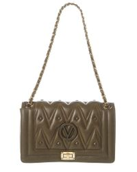 Valentino By Mario Valentino Green Alice D Sauvage Studs Leather Shoulder Bag
