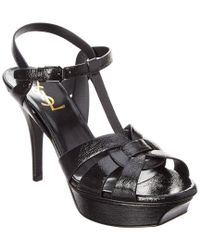 Saint Laurent Black 75 Tribute Leather Sandal