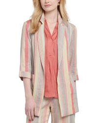 NIC+ZOE Multicolor Sweet Clover Linen-blend Blazer