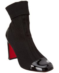 Christian Louboutin Black Taco Sock 85 Knit Bootie