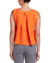 Hobbs Orange Linen Top