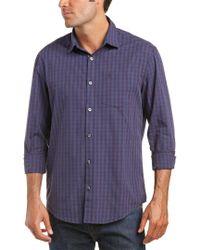 Original Penguin - Blue Woven Shirt for Men - Lyst