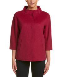 Forte Purple Wool & Cashmere-blend Jacket