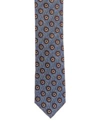 Canali - Blue & Brown Circles Silk Tie for Men - Lyst