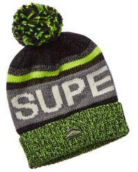 Superdry Green Super Sd Logo Beanie