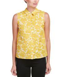 Hobbs Yellow Linen Top