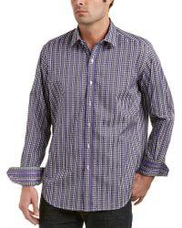 Robert Graham Purple Bartons Bank Classic Fit Woven Shirt for men