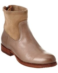 Frye - Gray Jamie Leather Bootie - Lyst