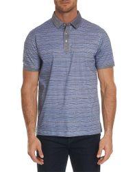 Robert Graham Blue Soto Classic Fit Polo Shirt for men