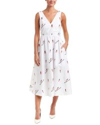 Endless Rose - White Chill Embroidered Midi Dress - Lyst