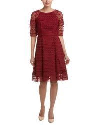 Kay Unger Red A-line Dress