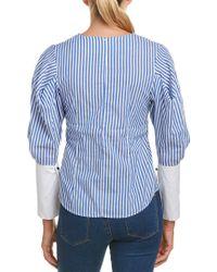 Haute Rogue Blue Stripe Top