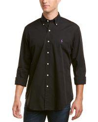 Ralph Lauren Black Polo Core Fit Woven Shirt for men