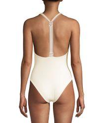 Tularosa White One-piece Dorthy Swimsuit