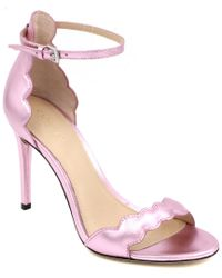 Rachel Zoe Pink Ava Leather Sandal